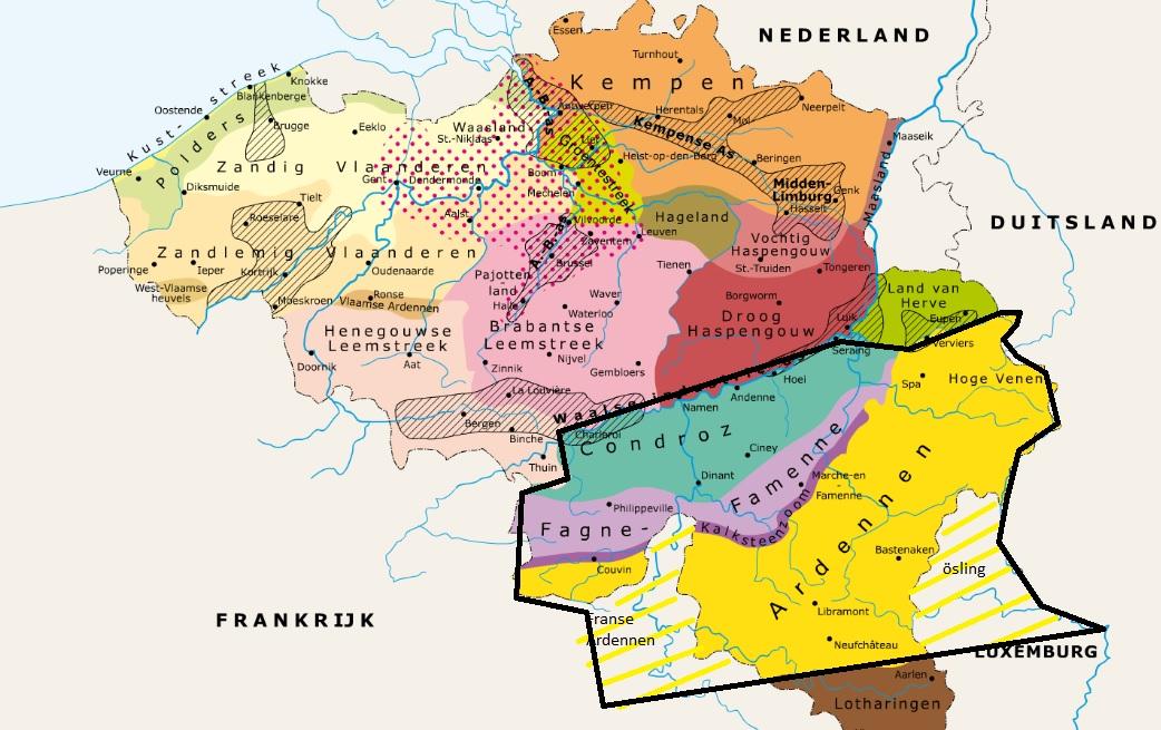 Geografische gebieden in België