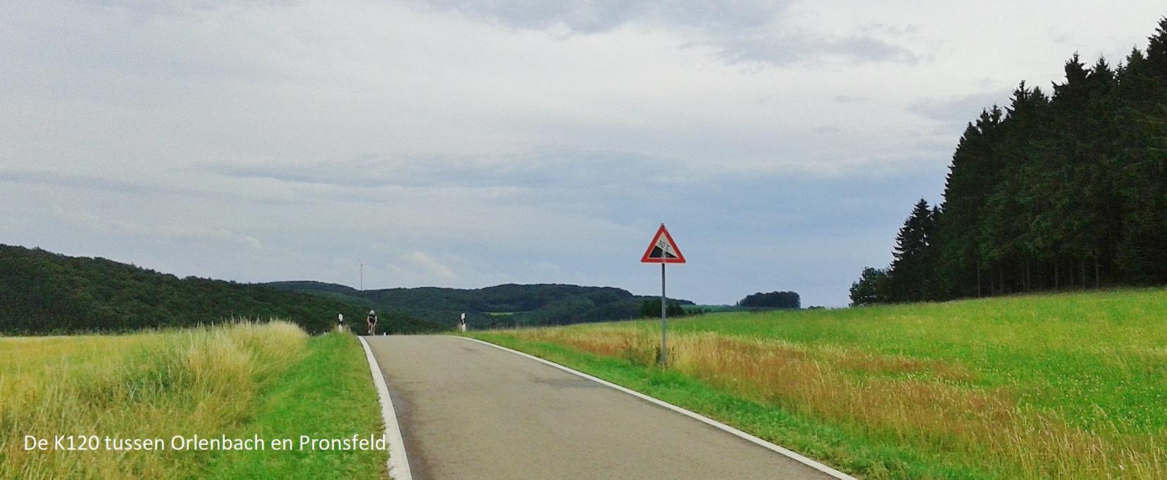 De K120 tussen Orlenbach en Pronsfeld
